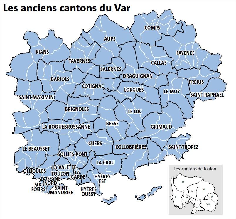 Le Var perd vingt cantons: un redécoupage qui fait mal