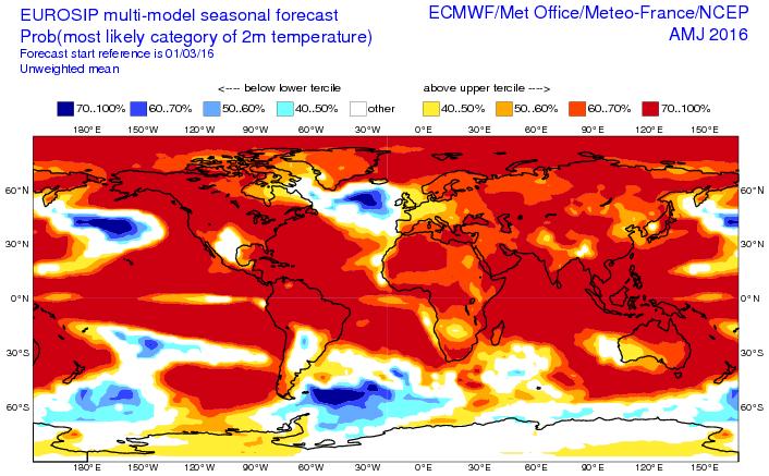 carte chaleur globe