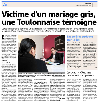 le reportage complet sur ipad ou sur le journal en ligne - Avocat Spcialis Mariage Gris