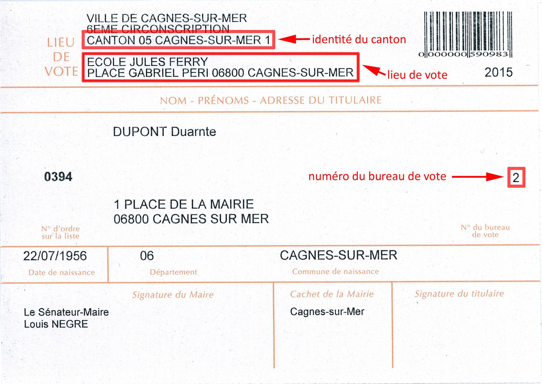 D partementales 2015 lecteurs cagnois soyez attentifs votre bureau de vote change cagnes - Adresse bureau de change ...