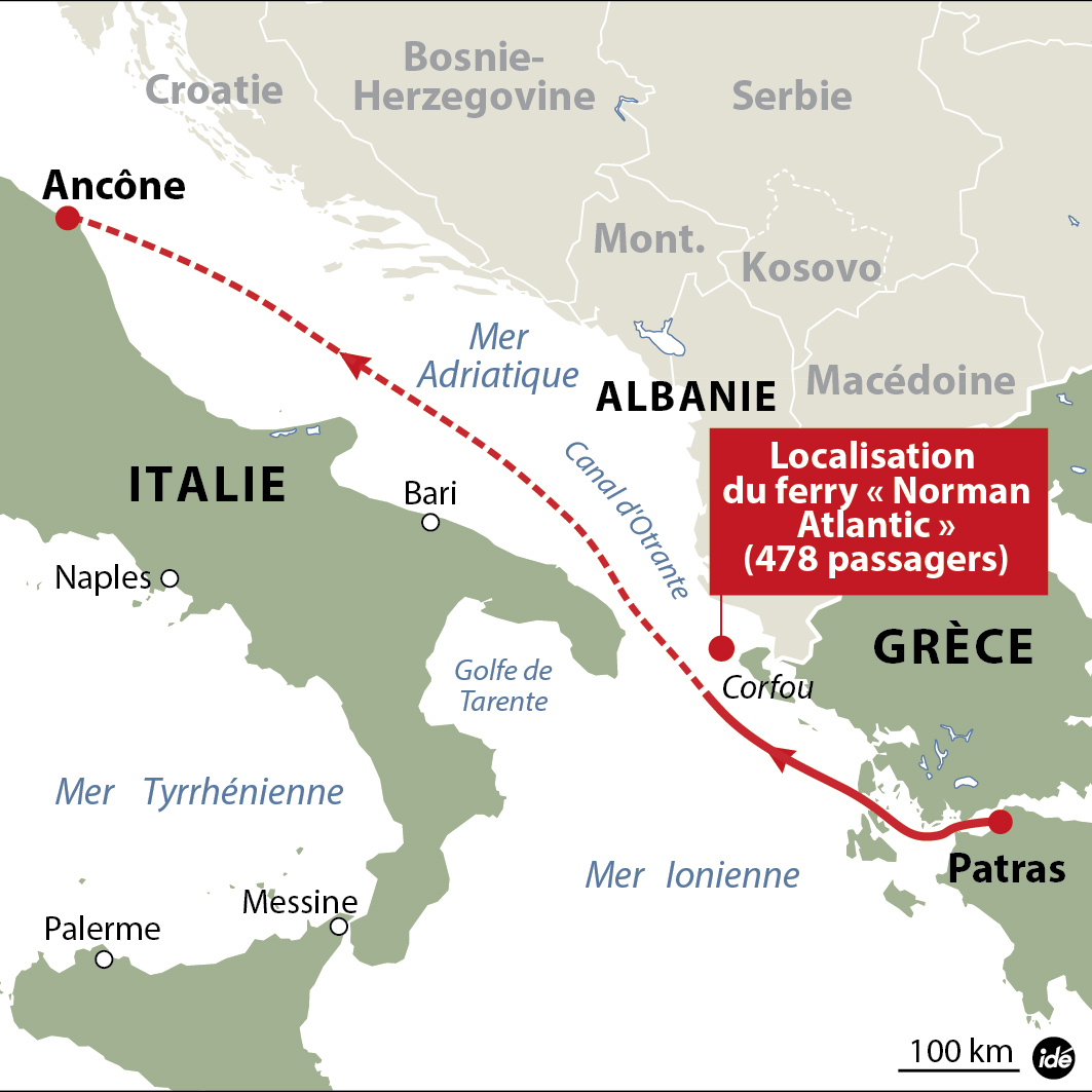 bateau italie grece